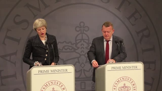 british prime minister theresa may reiterates her accusation that moscow poisoned former spy sergei skripal saying russia alone had the capability... - oresund region stock videos & royalty-free footage