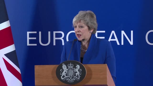 british prime minister theresa may says that the brexit deal struck with the european union is the only one possible urging mps and the british... - prime minister video stock e b–roll