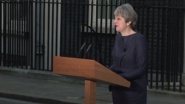 british prime minister theresa may says the only way to guarantee stability and certainty for the years ahead is to hold this election following her... - general election stock videos & royalty-free footage