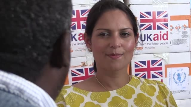 british prime minister theresa may summoned her aid minister priti patel back from a trip to africa on wednesday following a row over unauthorised... - priti patel stock-videos und b-roll-filmmaterial