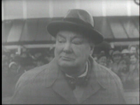 british prime minister winston churchill's horse wins a race in england in 1950 - 1951 stock videos & royalty-free footage