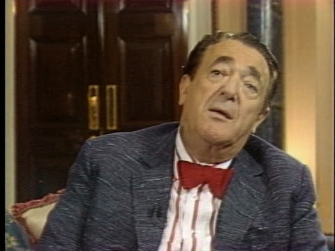 british publisher robert maxwell says that every citizen in the united states will be affected when economic reforms uniting europe go into effect in... - 1992 stock videos & royalty-free footage
