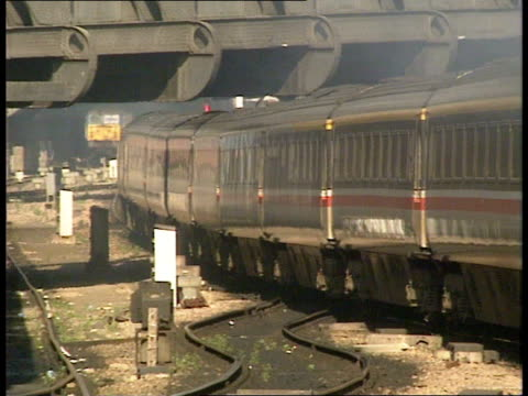 british rail; f'back intercity train along tracks slowly: - british rail stock videos & royalty-free footage