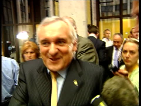 british rebate row blair rejects compromise deal belgium brussels ext bertie ahern interviewed as along sot i don't know we'll see what happens it's... - bertie ahern stock videos and b-roll footage