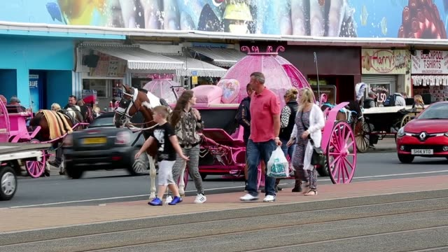 british seaside resorts are likely to benefit from increased business this year as the pound has weakened since the country voted for brexit meaning... - uferviertel stock-videos und b-roll-filmmaterial
