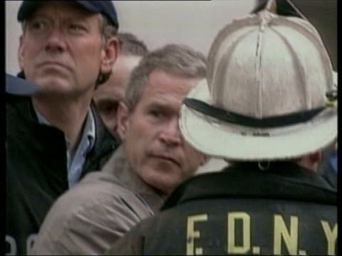 british secret service witnessed abuse of prisoners in american custody lib george w bush at ground zero - bush stock videos & royalty-free footage