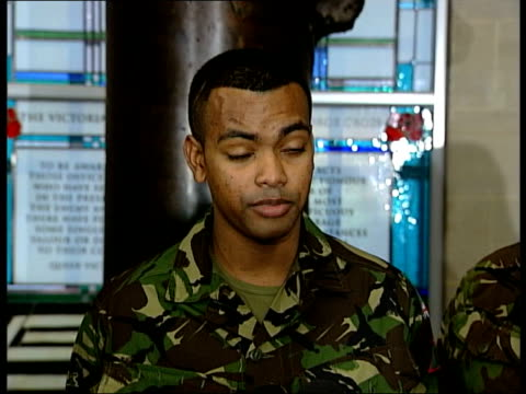 british soldier awarded the victoria cross for bravery cms beharry cms beharry interview sot talks of effects of his wounds / talks of wanting to get... - the victoria cross stock-videos und b-roll-filmmaterial