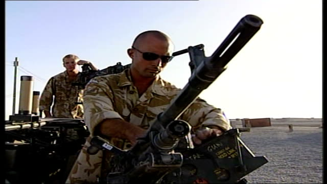 british soldier dies in arms of mother / nato calls for reinforcements; file / tx 7.9.06 helmand province: kandahar: sequence british soldiers... - helmand stock videos & royalty-free footage