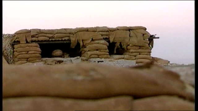 british soldier killed by taliban attack in helmand province r21090601 british soldiers behind sandbag walls on compound rooftop - sandbag stock videos and b-roll footage