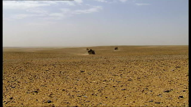 last letter to girlfriend tx afghanistan helmand province ext british army land rovers away through desert point of view from rear of british army... - land rover stock videos and b-roll footage