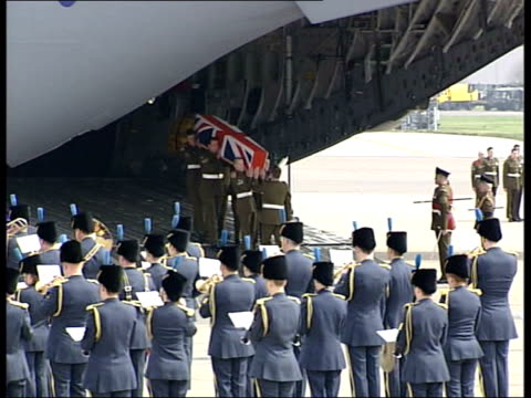 DAY 27 British soldiers bodies returned home ALSO LUNCHTIME NEWS U'LAY Shorter than Evening News