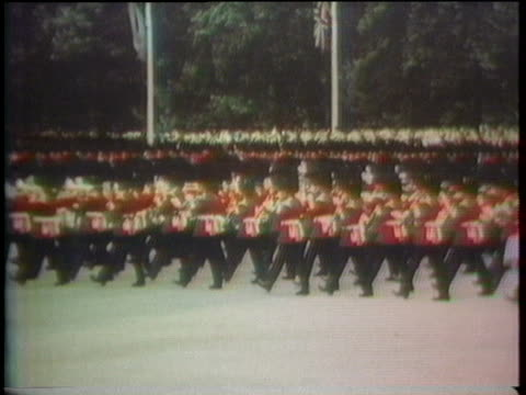 british soldiers march in a parade celebrating the united states' bicentennial. - 1976 stock videos & royalty-free footage