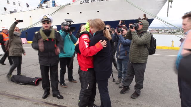 British solo yachtswoman Susie Goodall is finally on dry land in Chile after being rescued when her boat violently capsized half way through a yacht...
