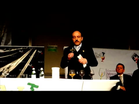 british sommelier gerard basset won the sommelier world championship in chile's capital santiago on thursday the prestigious competition held every... - world championship stock videos and b-roll footage