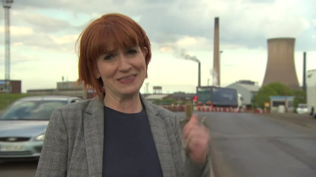 British Steel appears to be on the brink of collapse ENGLAND Lincolnshire Scunthorpe Steelworks General view steelworks with chimneys Reporter to...