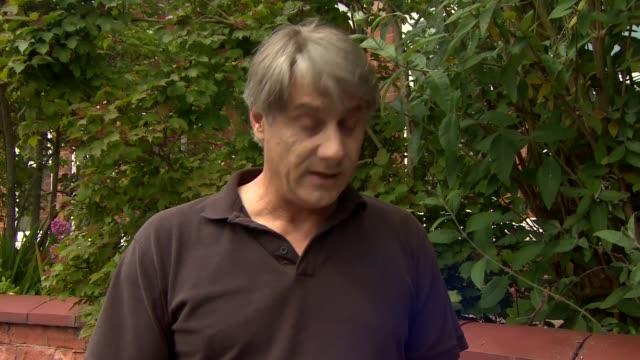 british student eleanor hawkins freed: father statement; england: derbyshire: derby: ext timothy hawkins reading statement to press sot - ダービーシャー点の映像素材/bロール