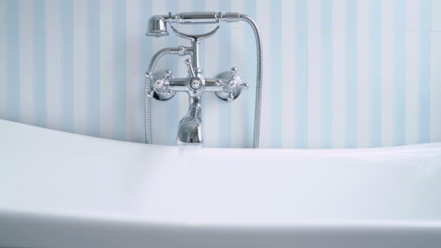 british style bathtub in bathroom - bathroom stock videos and b-roll footage