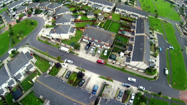 british suburb housing estate - housing development stock videos & royalty-free footage
