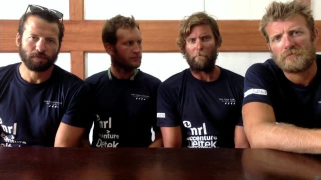 British team beat Atlantic rowing record ENGLAND London GIR INT Stuart Watts 2WAY interview from Antigua and Barbuda SOT alongside Peter Robinson...