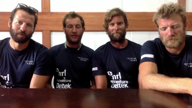 British team beat Atlantic rowing record ENGLAND London GIR INT George Biggar 2WAY interview from Antigua and Barbuda SOT alongside Peter Robinson...