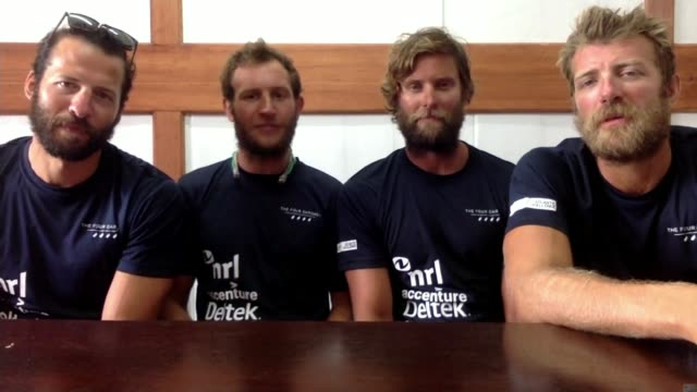 British team beat Atlantic rowing record London GIR George Biggar 2WAY interview from Antigua and Barbuda SOT alongside Peter Robinson Stuart Watts...