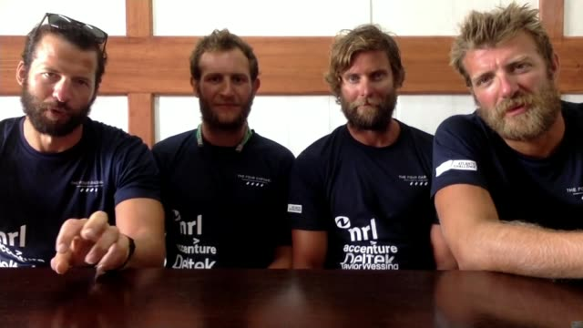 British team beat Atlantic rowing record London GIR Stuart Watts 2WAY interview from Antigua and Barbuda SOT George Biggar 2WAY interview from...