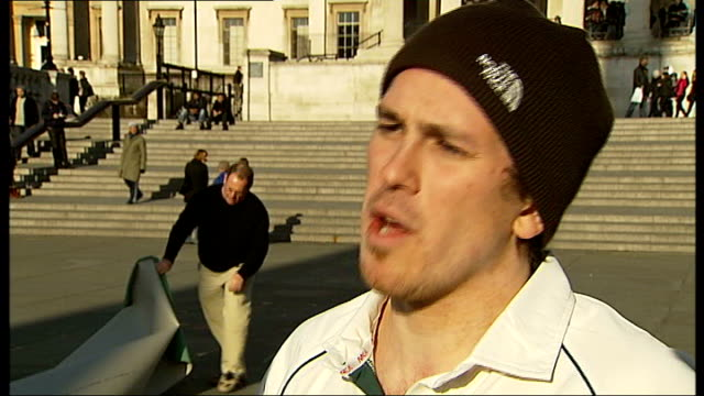 british team plans to play match on mount everest cricketers playing cricket richard kirtley interview sot cricketers playing cricket match reporter... - cricket team stock videos & royalty-free footage