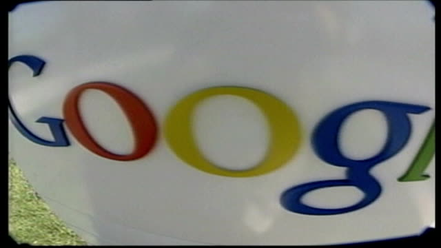 british technology company creates latest computer search engine 'wolframalpha'; close up of google logo - searching stock videos & royalty-free footage