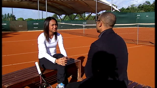 Location unknown Heather Watson chatting with ITN reporter Heather Watson interview SOT on support from her family