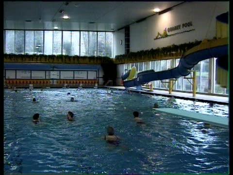 vídeos y material grabado en eventos de stock de british tourist authority launches musical map of britain england shropshire shrewsbury int people in swimming pool - shrewsbury