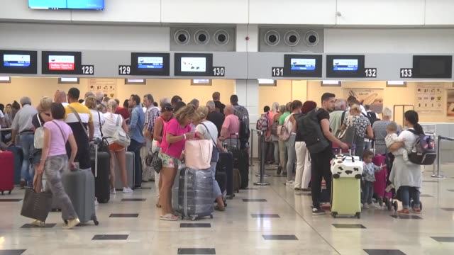 british tourists are leaving tuesday from turkey's southwestern mugla province following the collapse of uk tour operator thomas cook nearly 1000... - getting away from it all stock videos & royalty-free footage