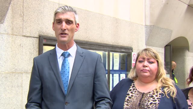 british transport police detective chief inspector sam blackburn speaking outside court after darren pencille is found guilty of the murder of lee... - victim stock videos & royalty-free footage