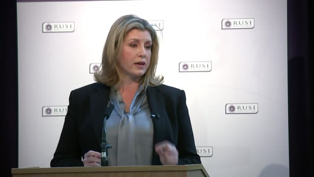 British troops and veterans to be given stronger protection against prosecution ENGLAND London Westminster RUSI INT Penny Mordaunt MP speech SOT...