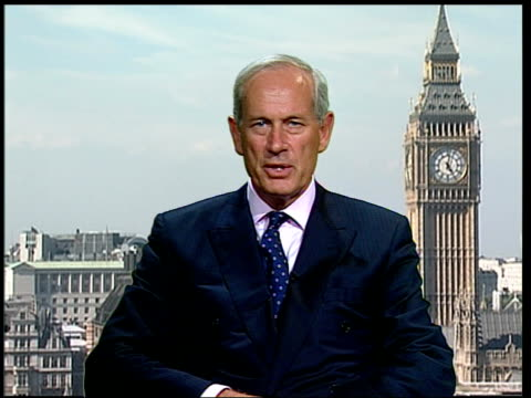 british troops and war crimes trials 2 way exwestminster int admiral lord boyce interview sot kevin williams was persuing a suspected in iraq there... - 無罪点の映像素材/bロール