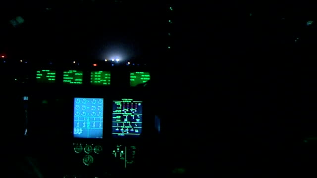 stockvideo's en b-roll-footage met british troops en route to camp bastion / general views camp bastion; afghanistan: helmand province: ext/night various views of hercules air force... - pilot