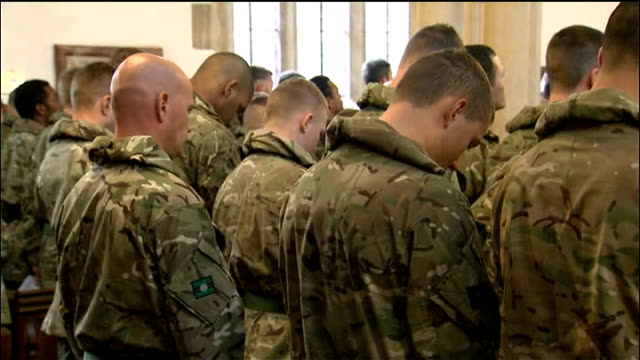 british troops prepare for deployment to afghanistan the minster church of st denys int soldiers of 3rd battalion the yorkshire regiment stand during... - battalion stock videos and b-roll footage