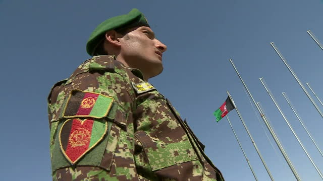 British troops pull out of Afghanistan flag lowered