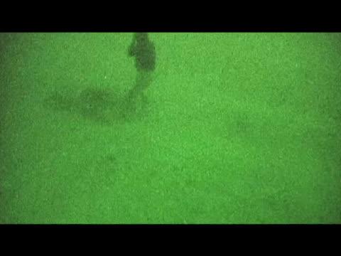 british troops traveling on ground at night afghanistan 10 september 2009 - 2001年~ アフガニスタン紛争点の映像素材/bロール