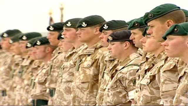 british troops' tribute to four collleagues killed in a week troops lined up as padre heard sot at the going down of the sun and in the morning we... - padre stock videos & royalty-free footage