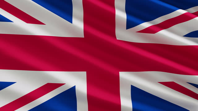 uk british united kingdom flag in the wind concept - british royalty stock videos & royalty-free footage