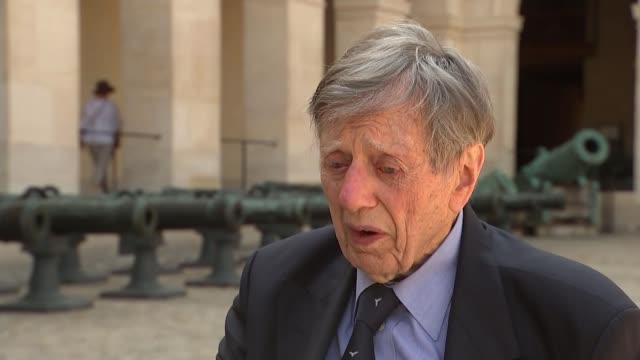British veterans attend celebrations to mark 100 years of cooperation between the RAF and the French Air force FRANCE Paris EXT Air Commodore Charles...