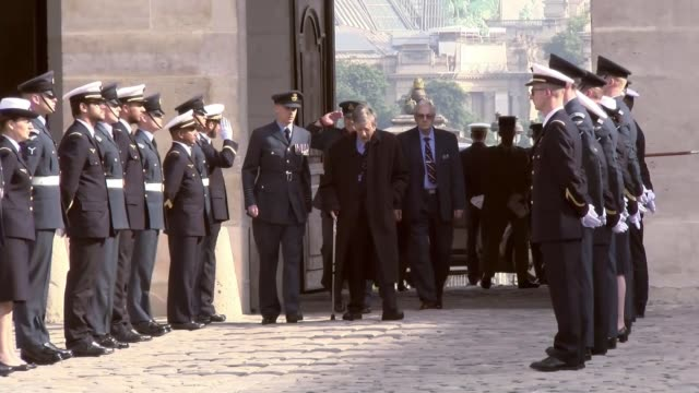 British veterans attend celebrations to mark 100 years of cooperation between the RAF and the French Air force FRANCE Paris EXT Squadron Leader...