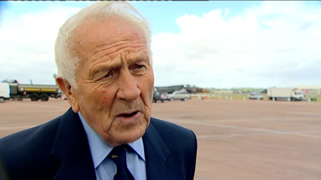 british veterans meet luftwaffe pilot for 70th anniversary of the battle of britain tony pickering interview sot - luftwaffe stock videos and b-roll footage