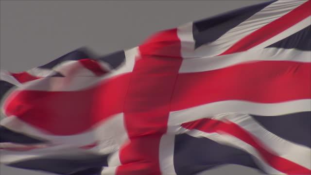 british - brittiska flaggan bildbanksvideor och videomaterial från bakom kulisserna