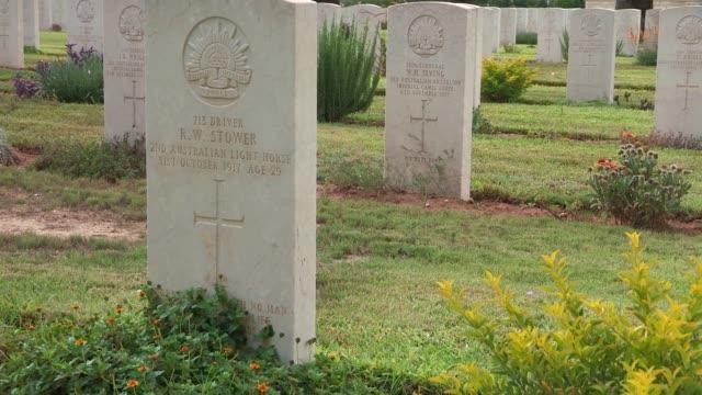 british war cemetery in beersheba - world war one stock videos & royalty-free footage