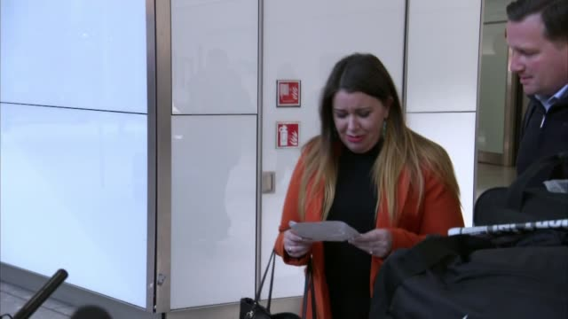 british woman jailed for travelling with painkillers in egypt in 2017 returns home england london heathrow airport photography** laura plummer crying... - north africa stock videos & royalty-free footage
