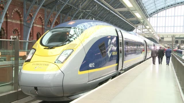 british workers on the eurostar crosschannel rail service will strike for seven days this month including over a public holiday weekend in a dispute... - eurostar stock-videos und b-roll-filmmaterial