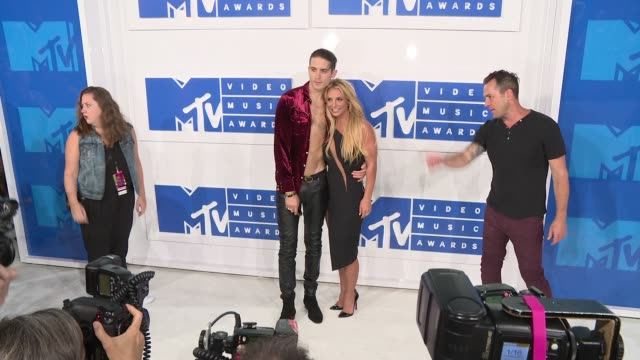 Britney Spears and GEazy at 2016 MTV Video Music Awards Arrivals at Madison Square Garden on August 28 2016 in New York City