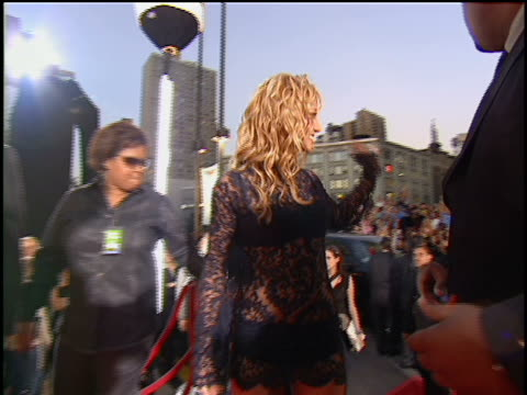 britney spears arriving at lincoln center for the 2001 mtv mtv video music awards. the mtv video music awards are held at the metropolitan opera... - 2001 stock videos & royalty-free footage