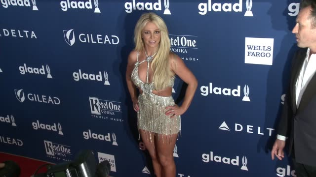 britney spears at the 29th annual glaad media awards at the beverly hilton hotel on april 12, 2018 in beverly hills, california. - the beverly hilton hotel stock-videos und b-roll-filmmaterial